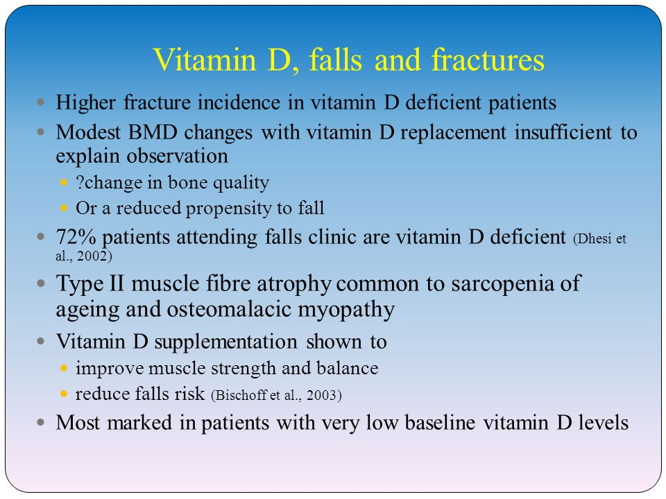 Vitamin D, falls and fractures
