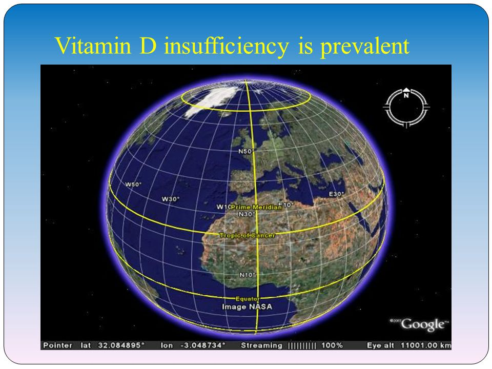 Vitamin D insufficiency is prevalent