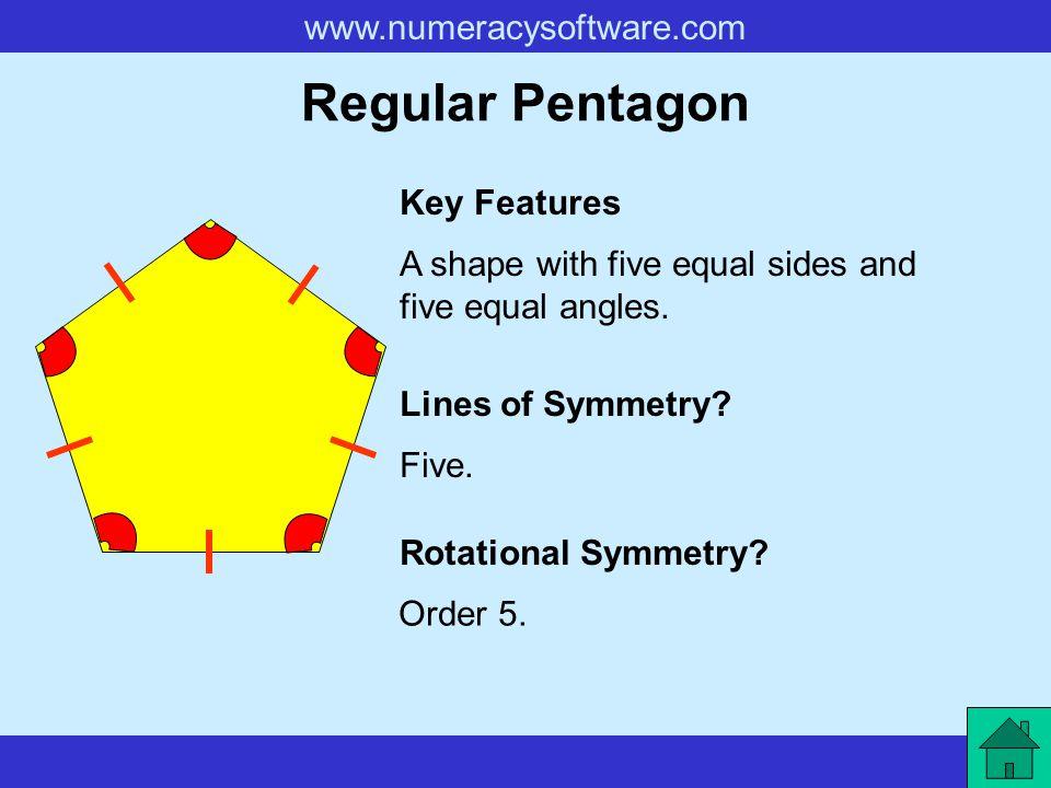 Regular Pentagon Key Features