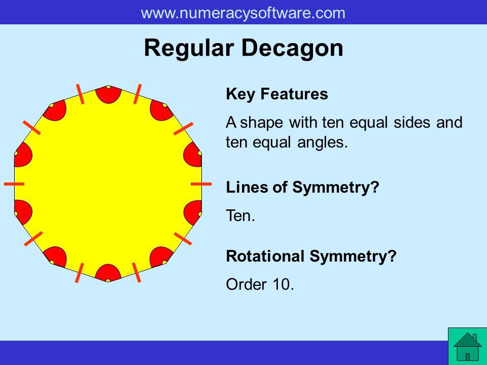 Regular Decagon Key Features