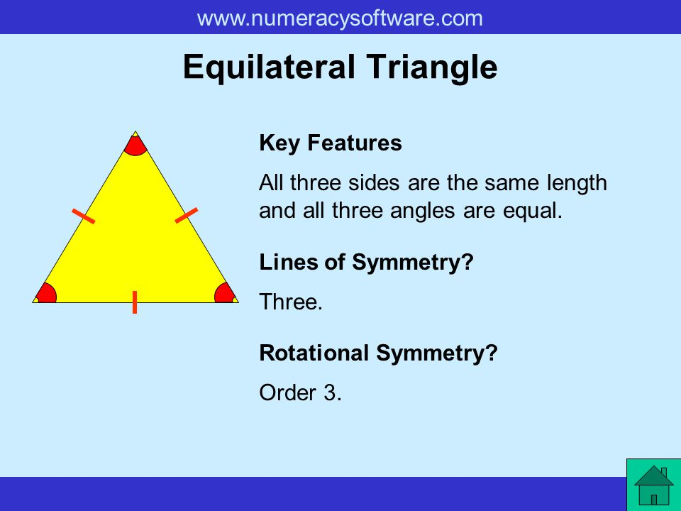 Equilateral Triangle Key Features