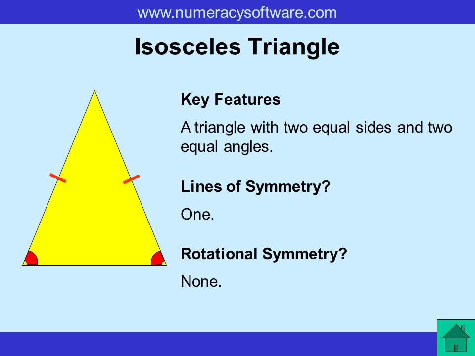 Isosceles Triangle Key Features