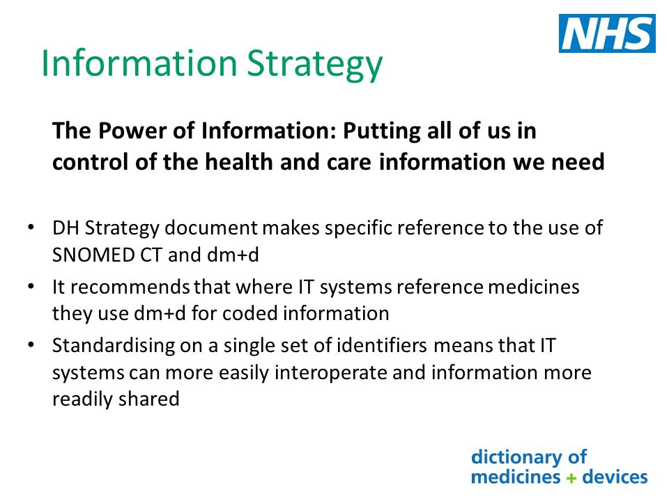 Information Strategy The Power of Information: Putting all of us in control of the health and care information we need.