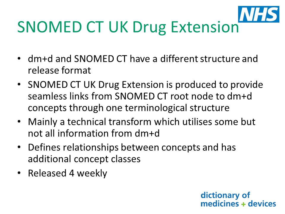 SNOMED CT UK Drug Extension