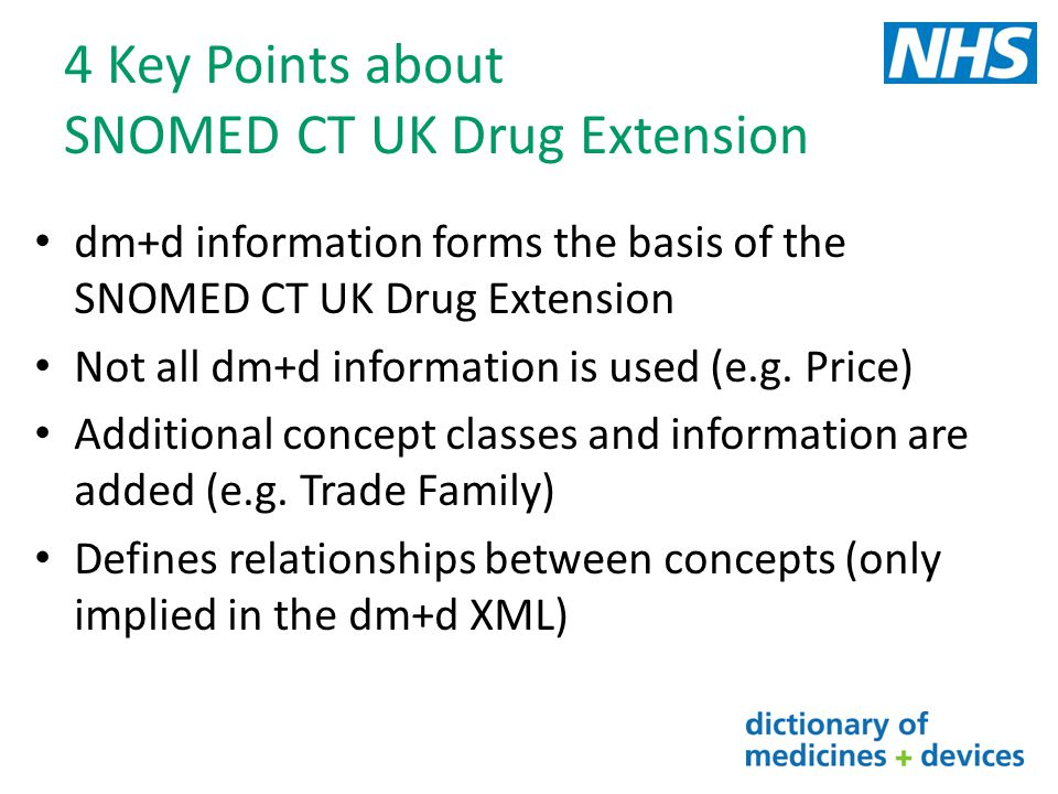 4 Key Points about SNOMED CT UK Drug Extension
