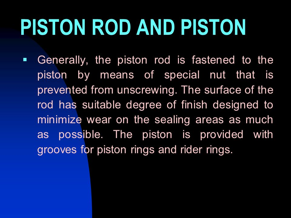 PISTON ROD AND PISTON
