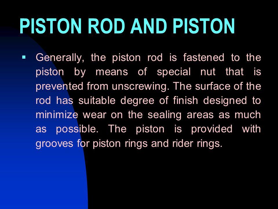 PISTON ROD AND PISTON