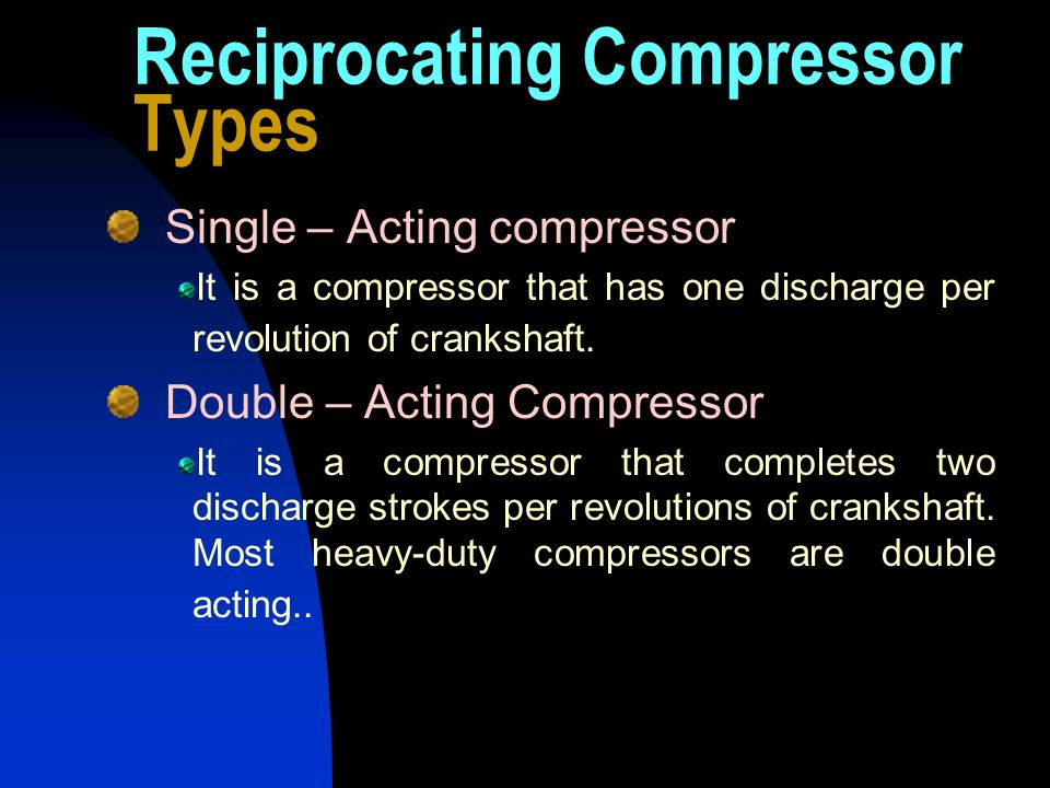 Reciprocating Compressor Types