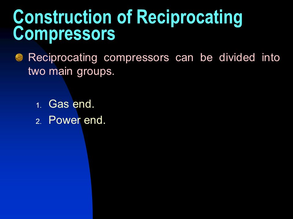 Construction of Reciprocating Compressors