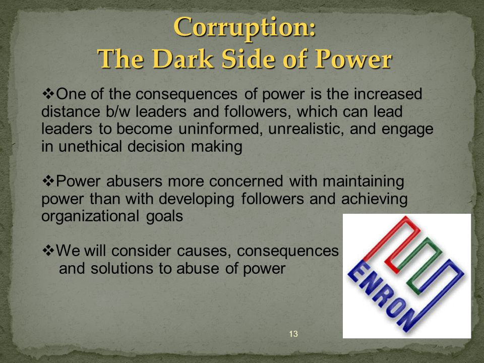 Corruption: The Dark Side of Power