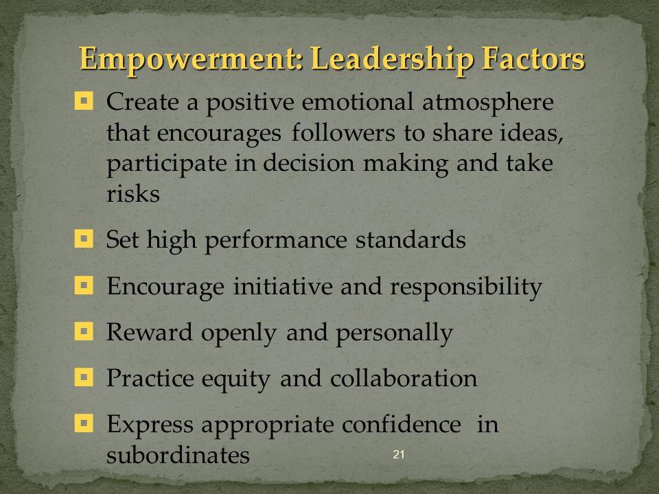 Empowerment: Leadership Factors