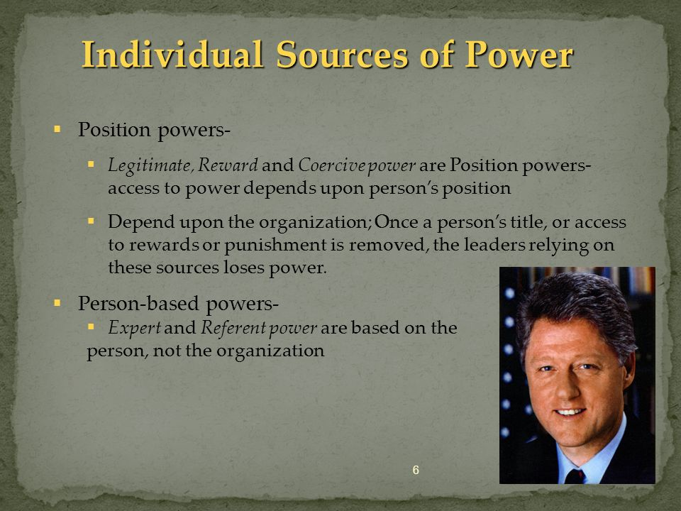 Individual Sources of Power