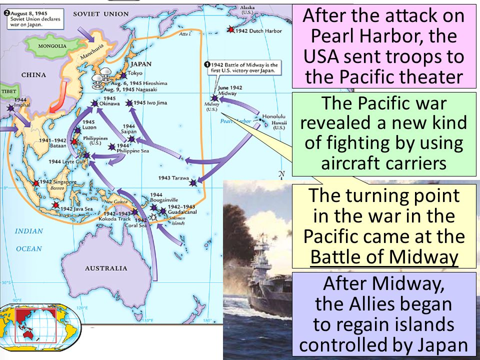 After Midway, the Allies began to regain islands controlled by Japan