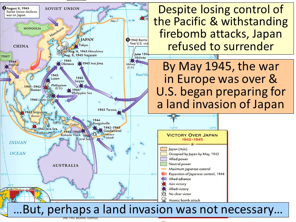 …But, perhaps a land invasion was not necessary…