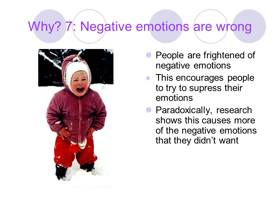 Why 7: Negative emotions are wrong