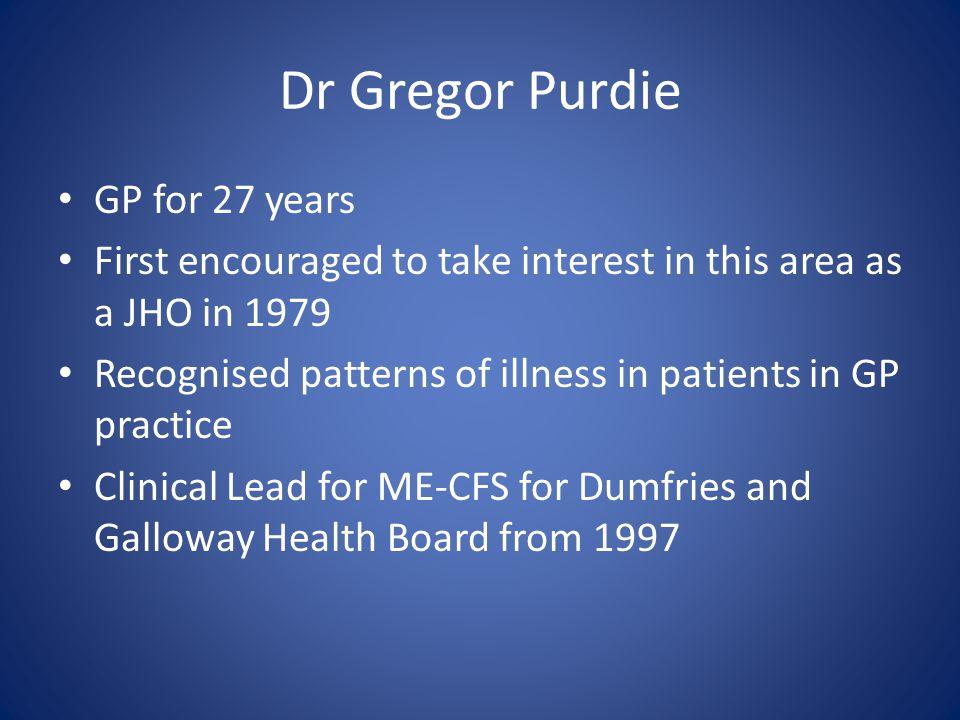 Dr Gregor Purdie GP for 27 years