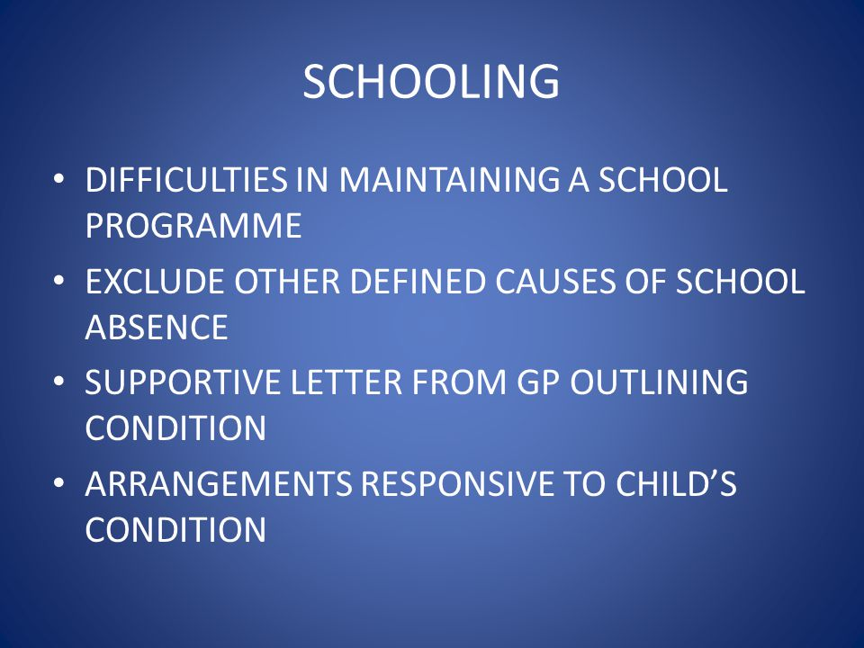 SCHOOLING DIFFICULTIES IN MAINTAINING A SCHOOL PROGRAMME