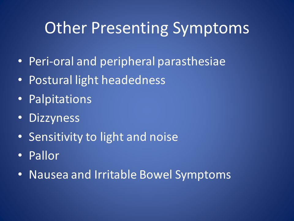 Other Presenting Symptoms