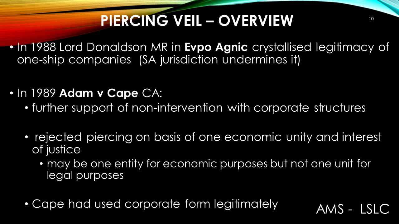 Piercing veil – Overview