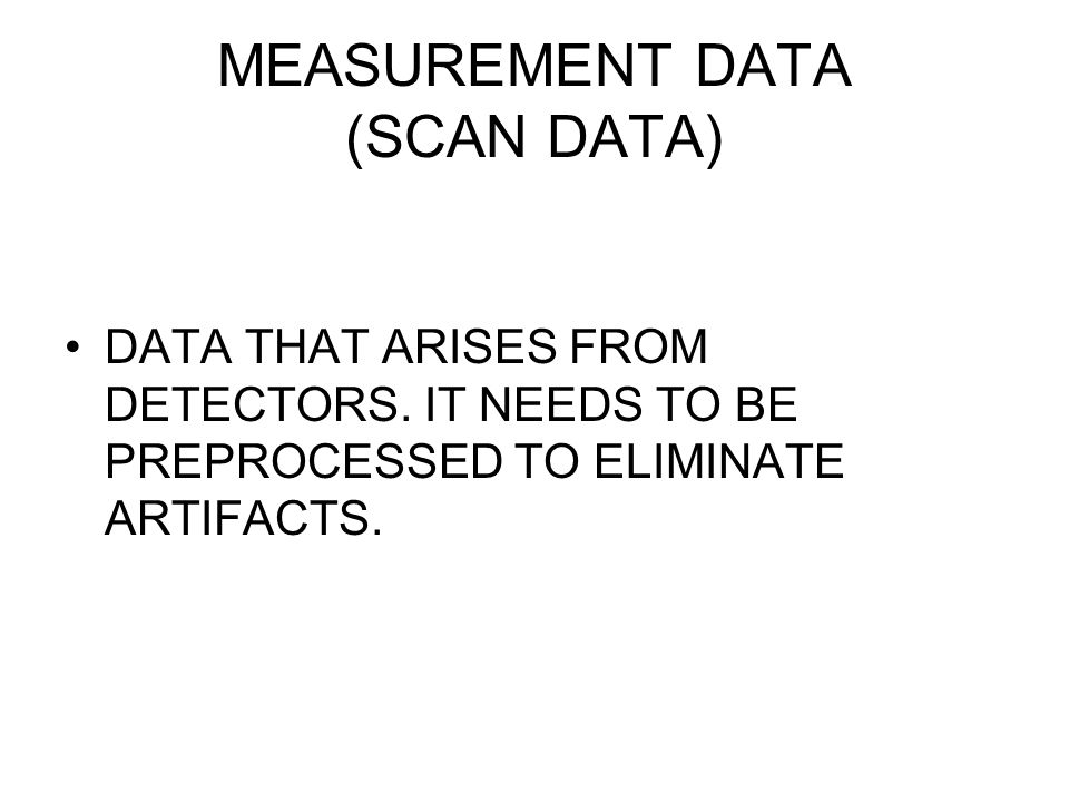 MEASUREMENT DATA (SCAN DATA)