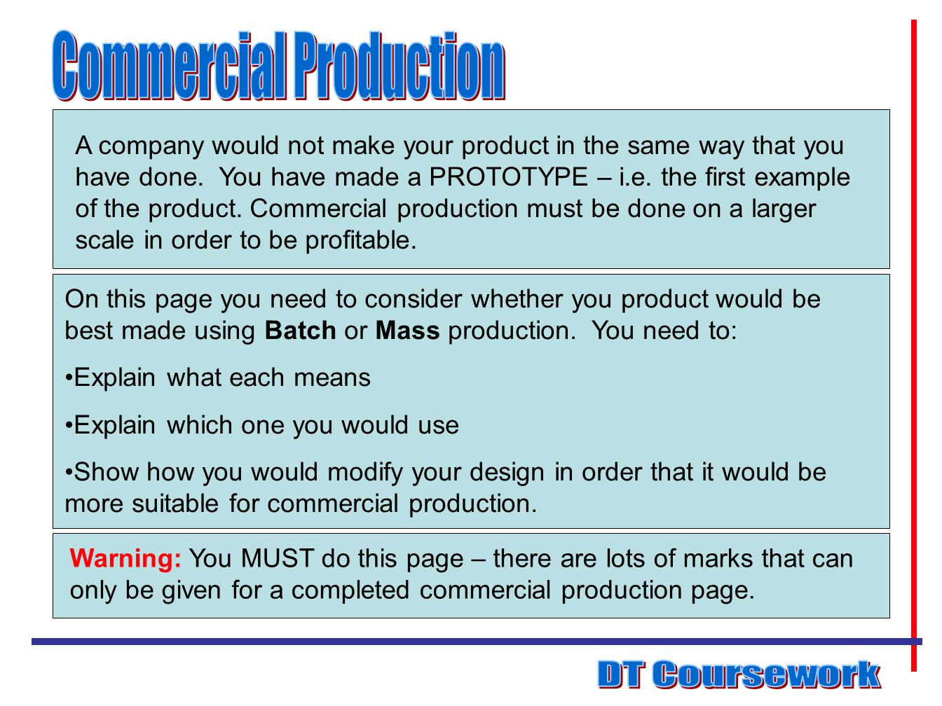 Commercial Production