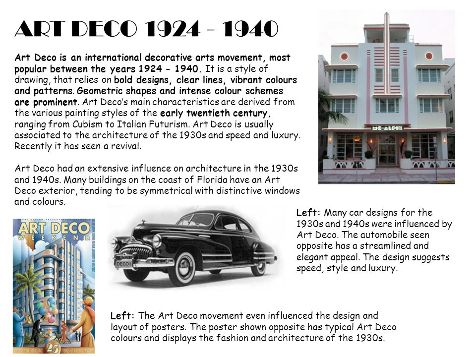 Art Deco Art Deco Is An International Decorative Arts Movement Most Popular Between The Years