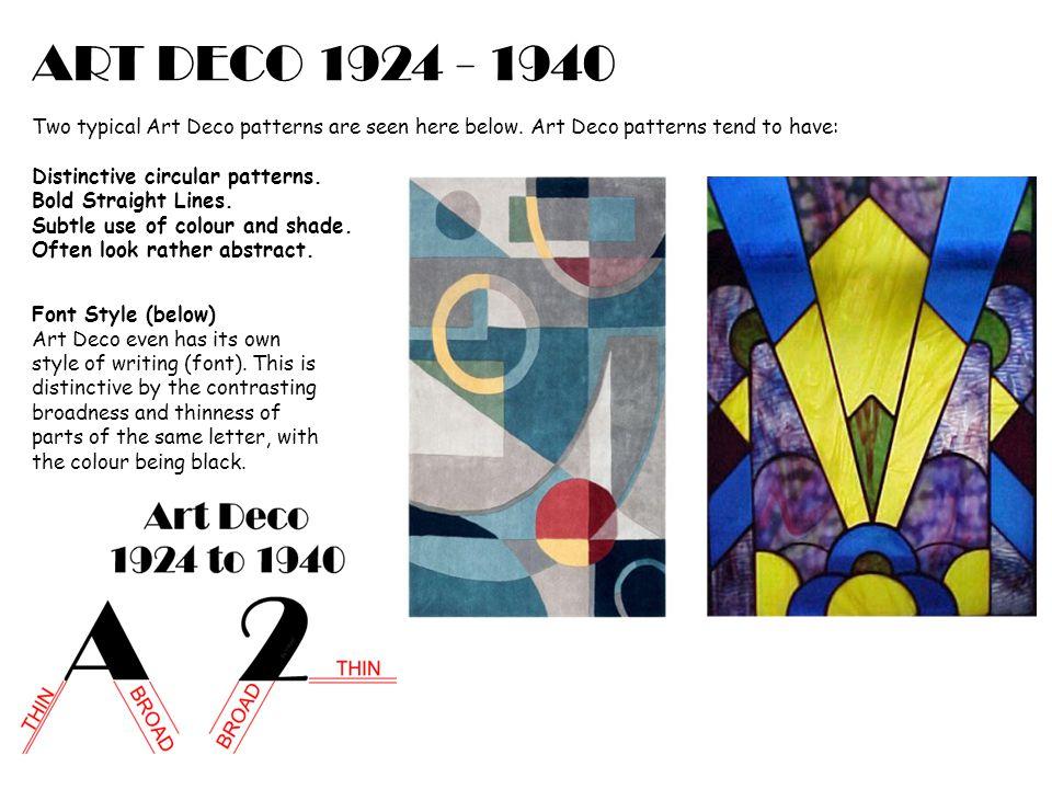 ART DECO 1924 - 1940