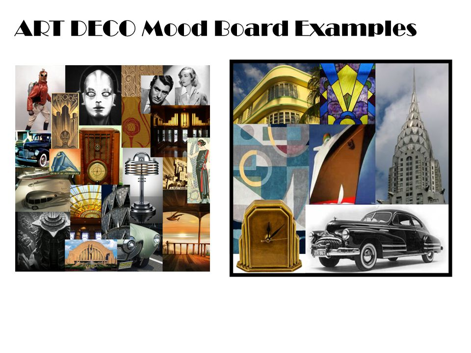 ART DECO Mood Board Examples
