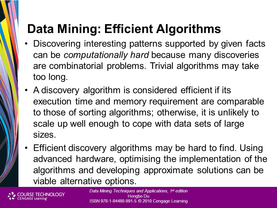 Data Mining: Efficient Algorithms