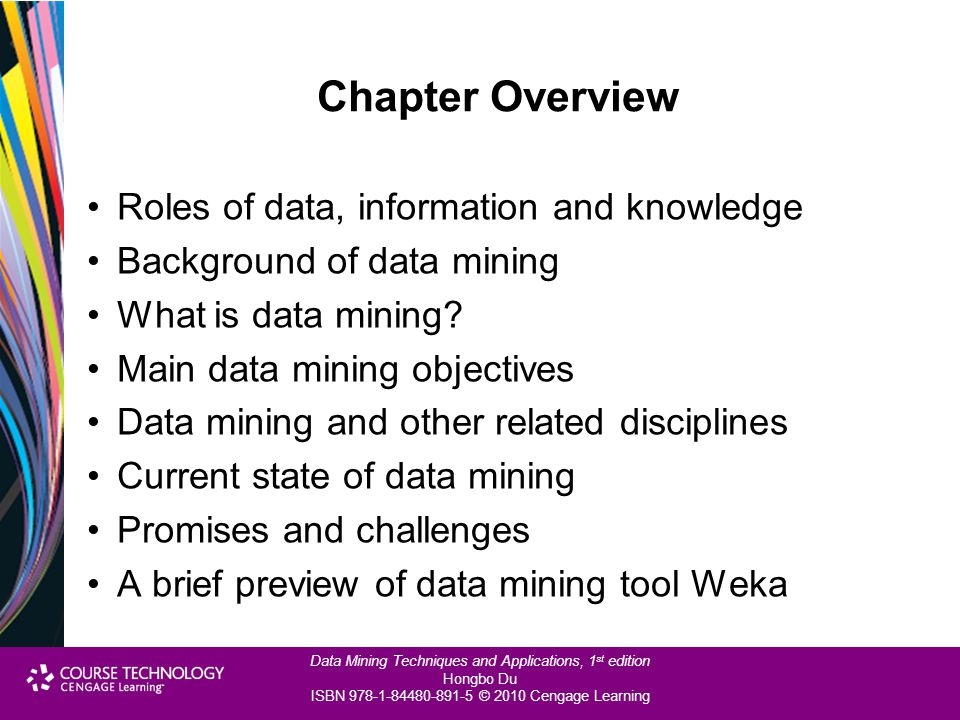 Chapter Overview Roles of data, information and knowledge