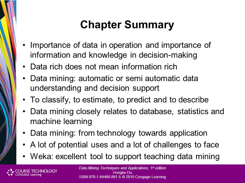 Chapter Summary Importance of data in operation and importance of information and knowledge in decision-making.