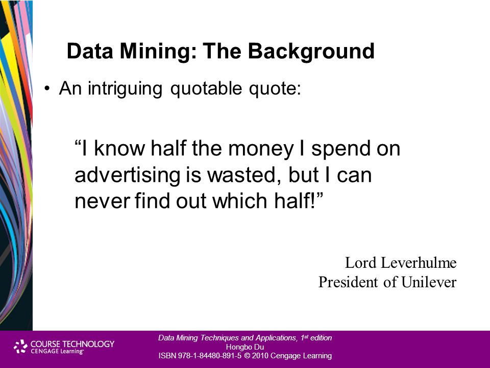 Data Mining: The Background