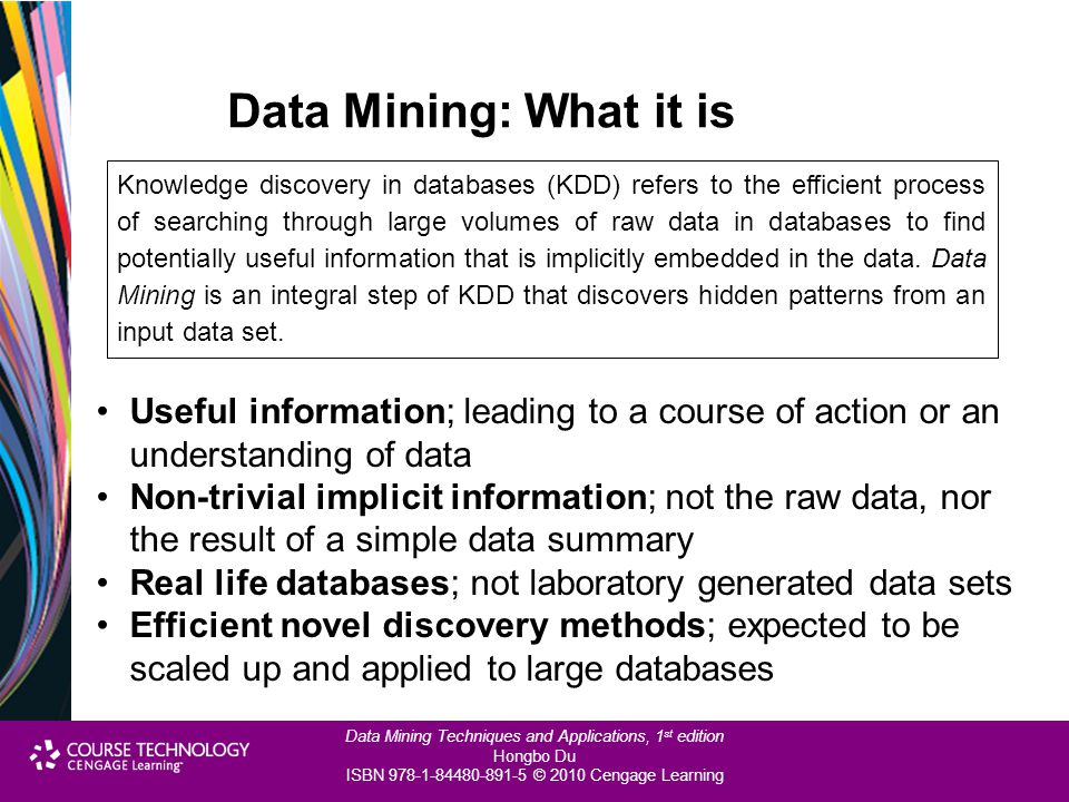 Data Mining: What it is