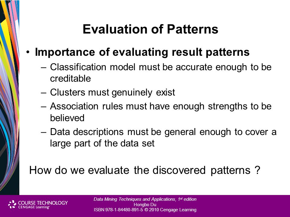 Evaluation of Patterns