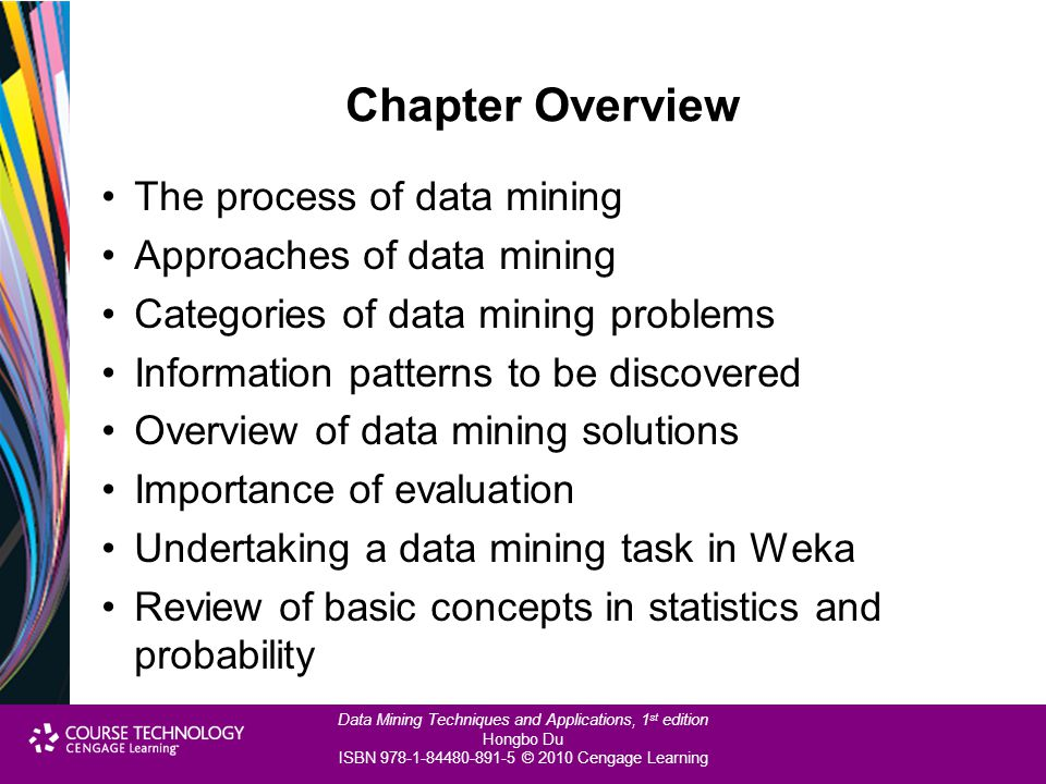 Chapter Overview The process of data mining Approaches of data mining