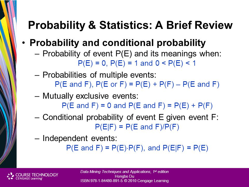 Probability & Statistics: A Brief Review