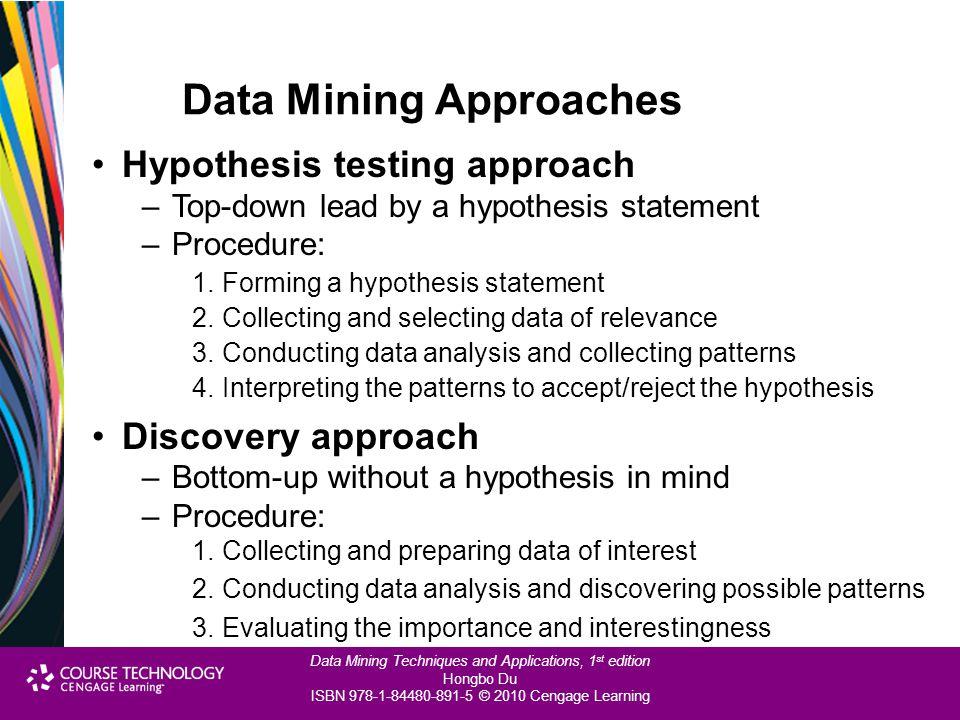 Data Mining Approaches