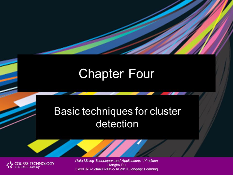 Basic techniques for cluster detection