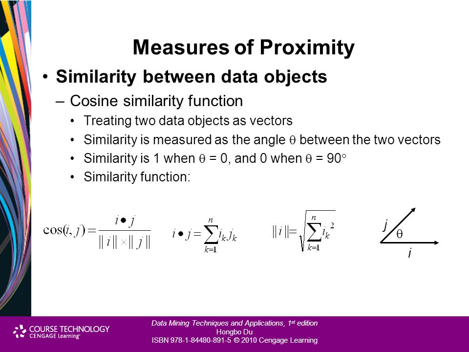 Measures of Proximity Similarity between data objects