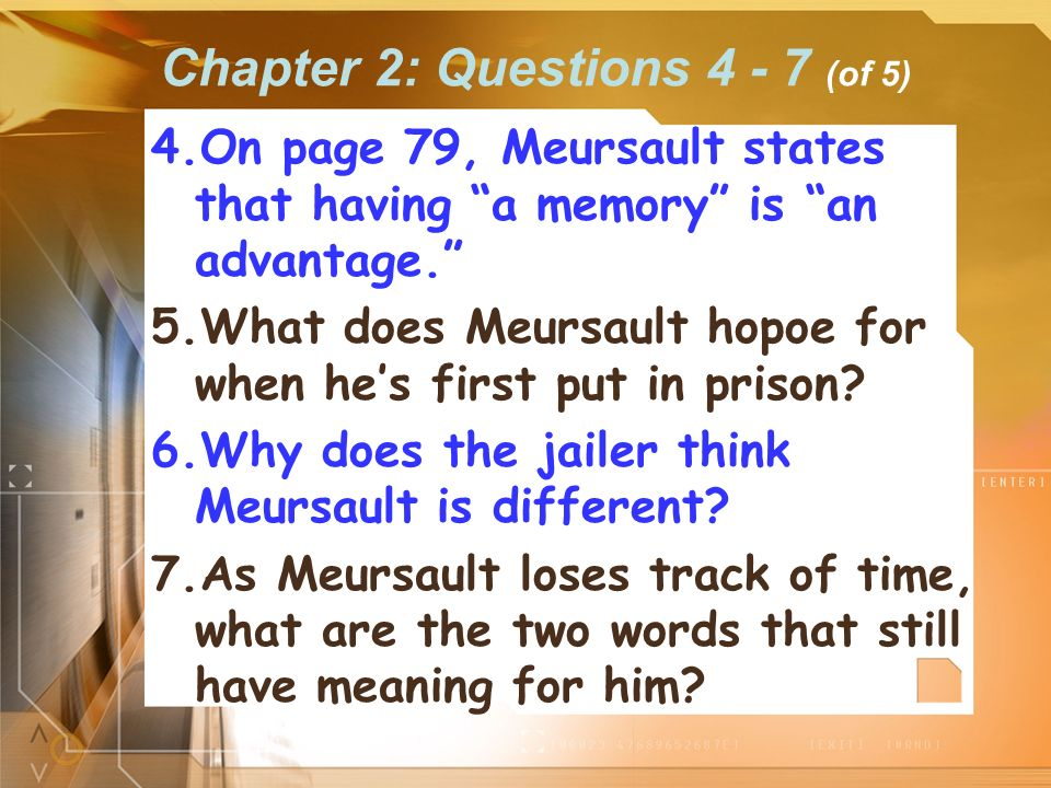 Chapter 2: Questions 4 - 7 (of 5)