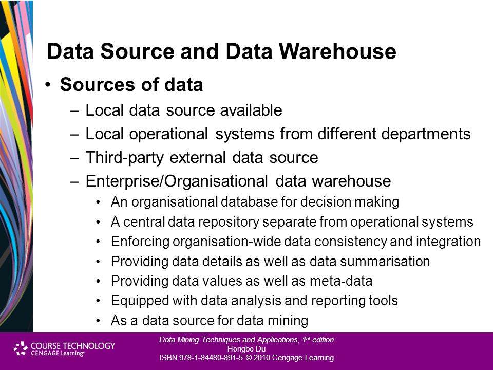 Data Source and Data Warehouse