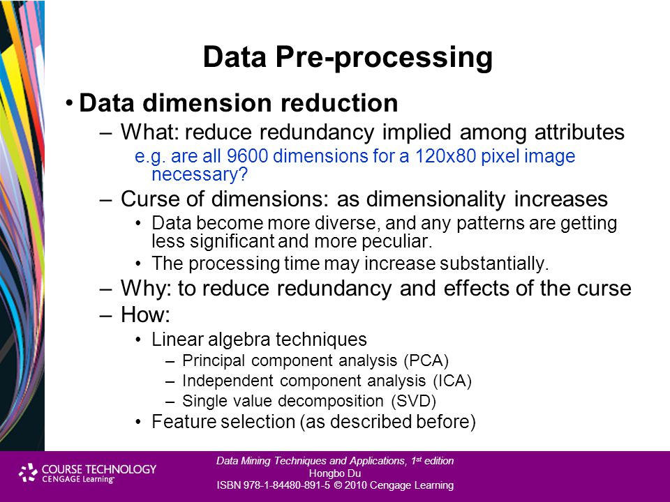 Data Pre-processing Data dimension reduction