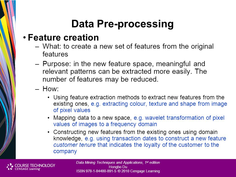 Data Pre-processing Feature creation