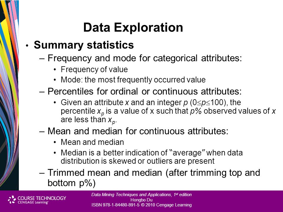 Data Exploration Summary statistics