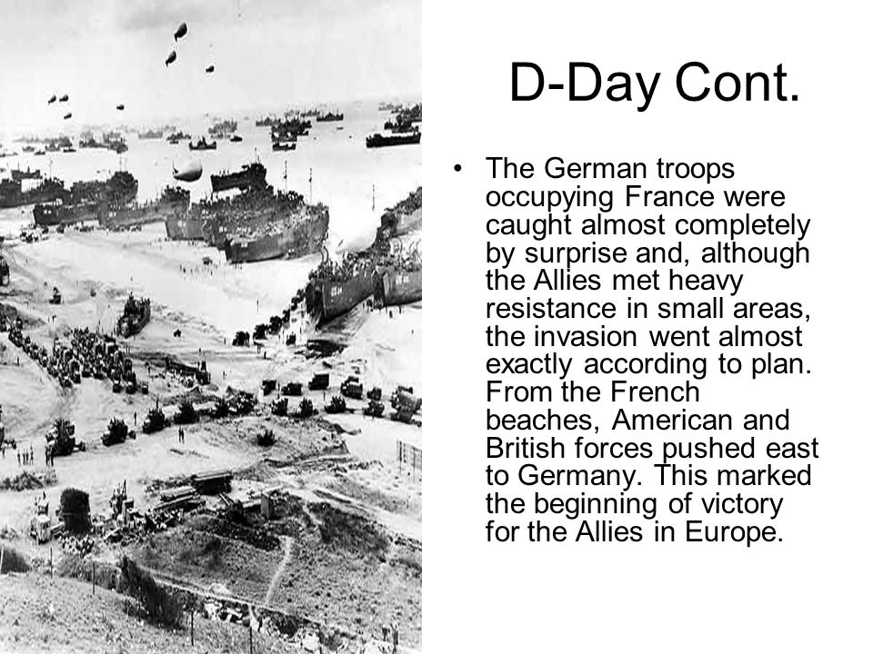 D-Day Cont.