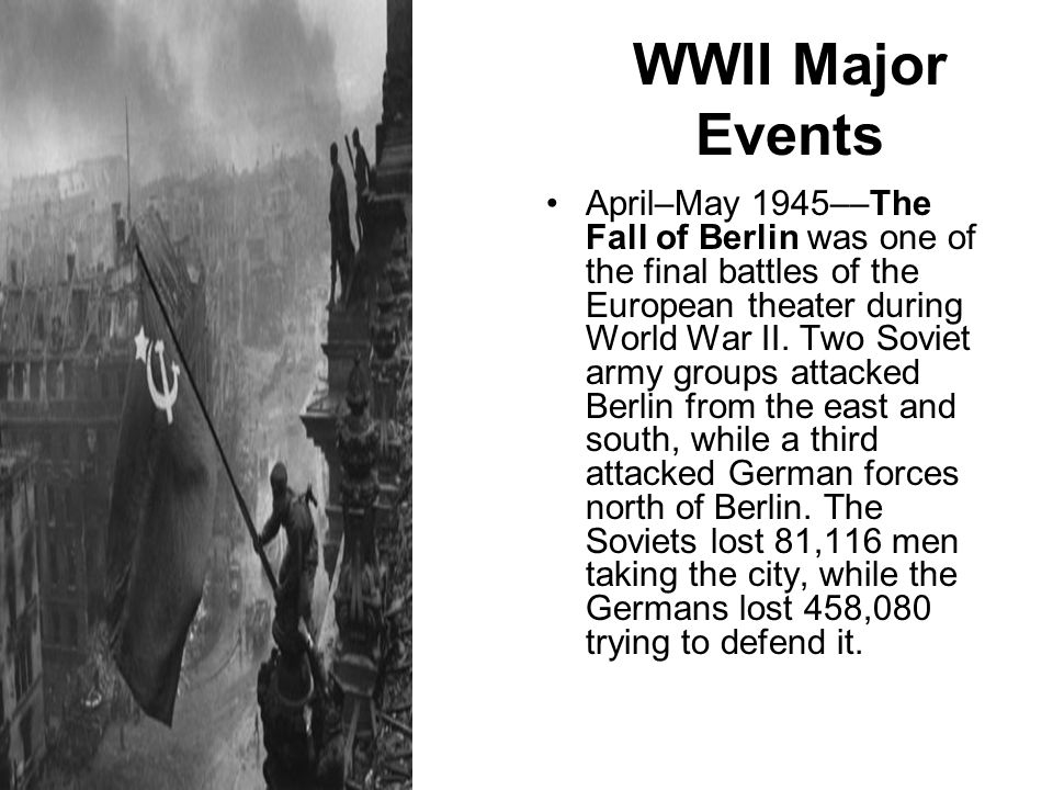 WWII Major Events