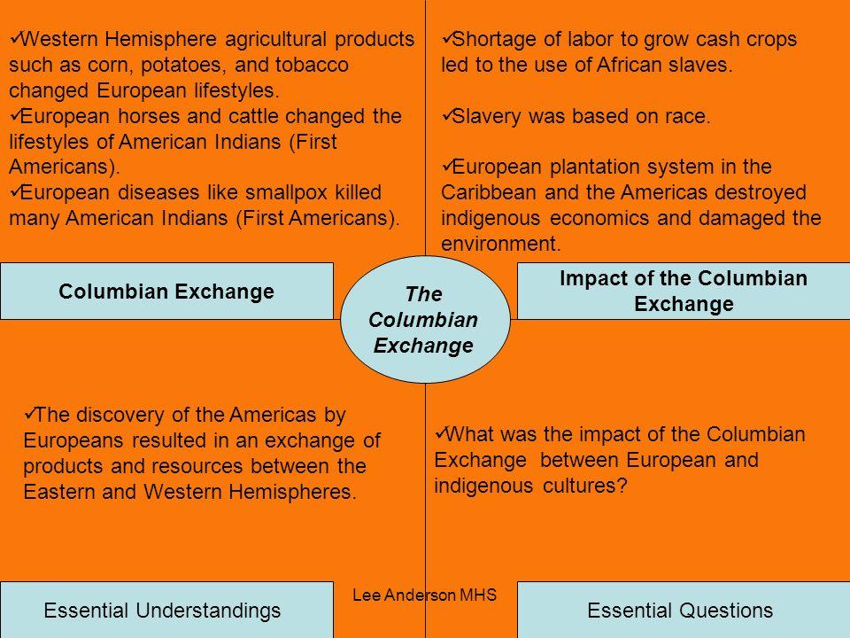 Impact of the Columbian