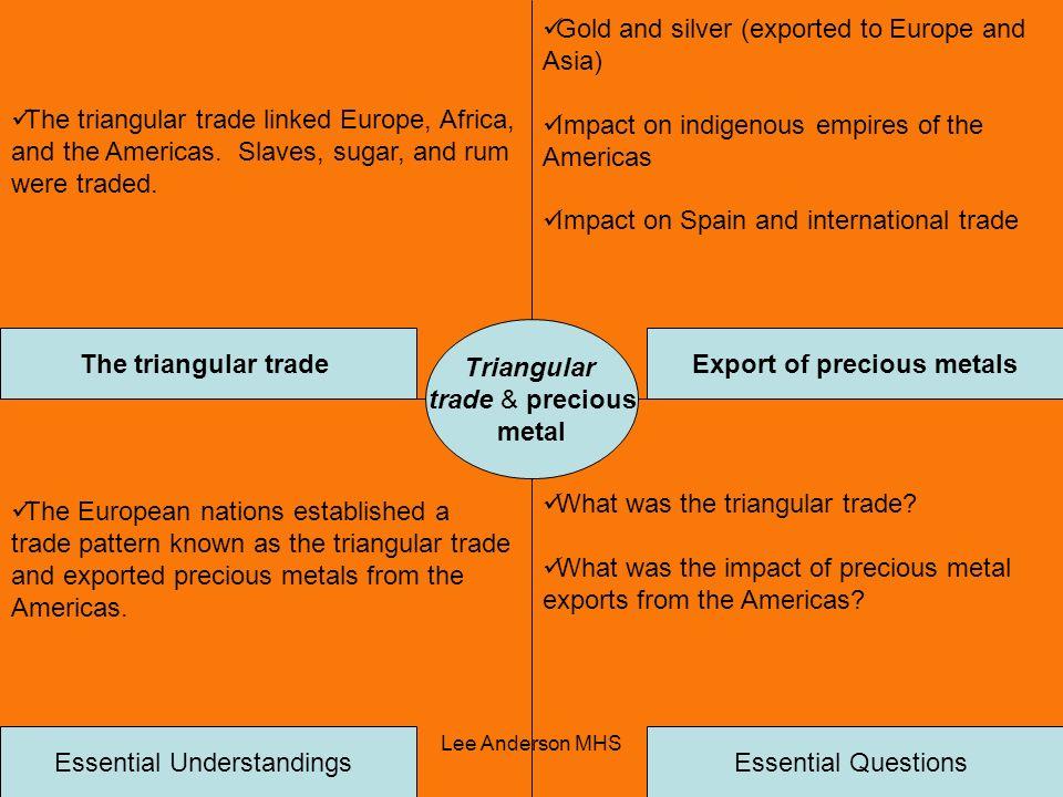 Export of precious metals
