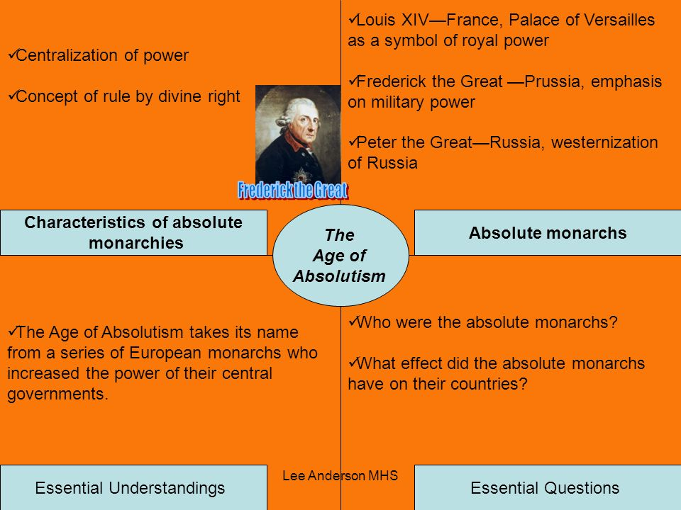 Characteristics of absolute