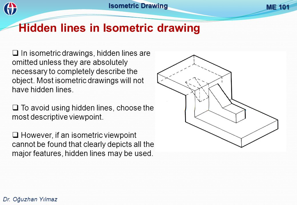 Hidden lines in Isometric drawing